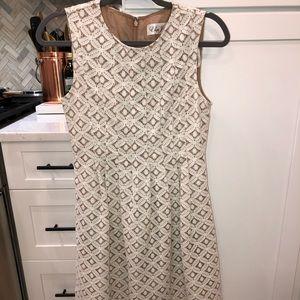 Eliza J Lace White Lace Dress